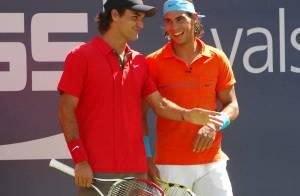 PHOTOS : Roger Federer et Rafael Nadal, les meilleurs ennemis du monde s'éclatent ensemble !