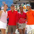 Lindsay Davenport, Roger Federer, Serena Williams et Rafael Nadal