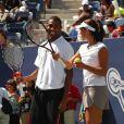 Cullen Jones et sa coach d'un jour Ana Ivanovic