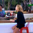 """Claire Barsacq plus sexy que jamais dans """"C à vous"""" sur France 5 le 23 avril 2014."""