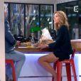 """Claire Barsacq dans """"C à vous"""" sur France 5 le 23 avril 2014."""