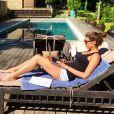 Laury Thilleman en vacances en provence depuis le 24 avril 2014.