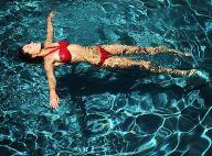 Laury Thilleman : Sexy en bikini rouge au bord d'une piscine, l'ex-Miss épate
