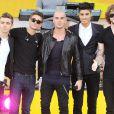 Nathan Sykes, Tom Parker, Max George, Siva Kaneswaran, Jay McGuiness au concert de Good Morning Americ à New York, le 23 août 2013.