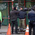 """Richard Gere interprète le rôle d'un sans-abris dans son nouveau film """"Time out of mind"""" qu'il tourne à New York, le 17 avril 2014.  Actor Richard Gere plays a homeless man in new film 'Time Out Of Mind' on the streets of New York City, USA, April 17th, 2014.17/04/2014 - New York"""