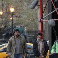"""Richard Gere interprète le rôle d'un sans-abris dans son nouveau film """"Time out of mind"""" qu'il tournait à New York, le 17 avril 2014."""