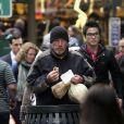 Richard Gere en SDF, tournant incognito près de Grand Central à Manhattan, New York, le 22 avril 2014.