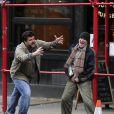 Richard Gere en SDF tourne son film ime Out Of Mind à Manhattan, New York, le 17 avril 2014.