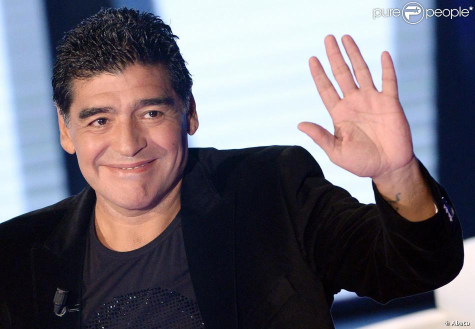 Diego Armando Maradona à Milan, le 20 octobre 2013.