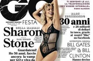 Sharon Stone : Renversante en dessous coquins, maman radieuse avec son fils