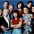 Brian Austin Green, Carol Potter, Douglas Emerson, Gabrielle Carteris et Ian Ziering dans Beverly Hills 90210.