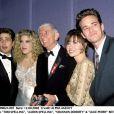 Tori Spelling, Aaron Spelling, Shannen Doherty, Luke Perry et Jason Priestley, le 12 août 2002.