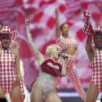 Miley Cyrus en concert à l'O2 Arena de Londres, le 6 mai 2014.