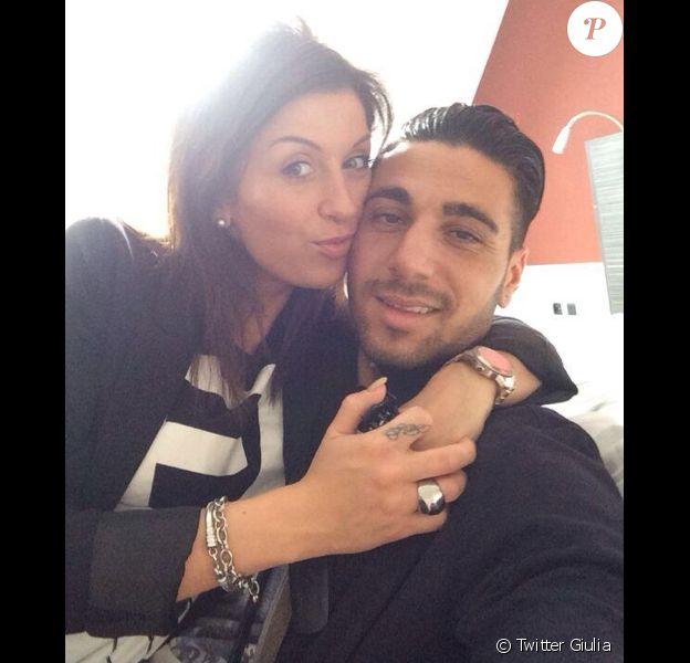 Giulia et son nouveau petit ami, le 3 mai 2014.