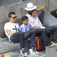 Cristiano Ronaldo et son fils Cristiano Jr., au Master 1000 de Madrid le 8 mai 2014 à la Caja Magica de Madrid