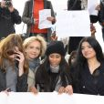 Nathalie Kosciusko-Morizet, Carla Bruni-Sarkozy, Valérie Pécresse... - Marche de femmes pour appeler à la libération de jeunes filles enlevées par le groupe Boko Haram au Nigeria. Place du Trocadéro à Paris le 13 mai 2014.