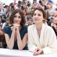 Paz Vega, Jeanne Balibar lors du photocall pour Grace de Monaco au Palais des Festivals, pour le 67e Festival de Cannes, le 14 mai 2014.