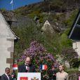 Le prince Albert de Monaco, ému sur les traces de ses ancêtres, et la princesse Charlene étaient en visite à Carlat, dans le Cantal, le 15 mai 2014 dans le cadre du centenaire de la cession du rocher de Carlat au prince Albert Ier. Après Carlat, le couple princier a visité Calvinet.