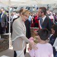 Le prince Albert de Monaco et la princesse Charlene, remise de son malaise de la veille, étaient visite à Carlat, dans le Cantal, le 15 mai 2014 dans le cadre du centenaire de la cession du rocher de Carlat au prince Albert Ier. Après Carlat, le couple princier a visité Calvinet.