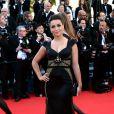 La chanteuse Priscilla Betti sur le tapis rouge du Festival de Cannes le 15 mai 2014
