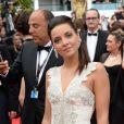 La chanteuse Priscilla Betti sur le tapis rouge de l'ouverture du Festival de Cannes le 14 mai 2014
