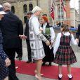 La famille royale de Norvège, y compris la princesse Ingrid Alexandra, 10 ans, s'est réunie au Parlement le 15 mai 2014 pour célébrer le bicentenaire de la Constitution.