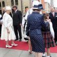 La famille royale de Norvège, y compris la princesse Ingrid Alexandra de Norvège, 10 ans, était au Parlement (Storting) à Oslo le 15 mai 2014 à l'occasion de la cérémonie spéciale pour le bicentenaire de la Constitution norvégienne.