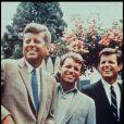 John 'Jack' Fitzgerald Kennedy (JFK), Robert (Bobby) Fitzgerald Kennedy (RFK) et Edward (Ted) Kennedy, image d'archives.