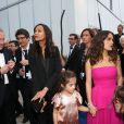 """François-Henri Pinault, Zoe Saldana, Salma Hayek et sa fille Valentina Pinault durant l'hommage au cinéma d'animation et la présentations de """"Kahlil Ghibran's The Prophet"""",lors du 67e Festival du film de Cannes le 17 mai 2014."""