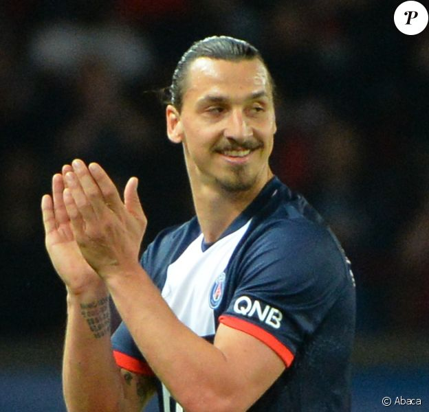 Zlatan Ibrahimovic après le match entre le Paris Saint-Germain et Montpellier le 17 mai 2014 au Parc des Princes à Paris