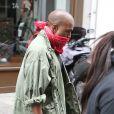 Kim Kardashian et Kanye West quittent la salle de gym à Paris le 21 mai 2014.