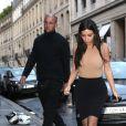 Kim Kardashian est allée dîner au restaurant Ferdi à Paris. Le 20 mai 2014