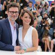 """Bérénice Bejo et son compagnon Michel Hazanavicius - Photocall du film """"The Search"""" lors du 67e Festival International du Film de Cannes, le 21 mai 2014."""