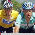 Lance Armstrong et Ian Ullrich sur la 14e étape du Tour de France le 20 juillet 2003 entre Saint-Girons et Loudenvielle