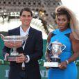 Rafael Nadal et Serena Willliams, les deux tenants du titre de Roland-Garros, étaient réunis pour l'opération  Roland-Garros dans la ville , sur le Champs de Mars à Paris, le 22 mai 2014