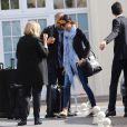 Les invités du mariage de Kim Kardashian et de Kanye West s'envolent de l'aéroport du Bourget pour Florence. Le Bouget, le 24 mai 2014.