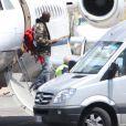 Virgil Abloh arrive en jet privé à Florence, le 24 mai 2014.