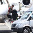 Don C arrive en jet privé à Florence, le 24 mai 2014.