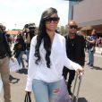 Blac Chyna et Tyga arrivent à Florence, le 24 mai 2014.
