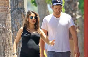 Mila Kunis enceinte et radieuse avec Ashton Kutcher: Virée shopping pour le bébé