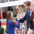 La princesse Alexandra de Hanovre et Pierre Casiraghi se sont retrouvés avec beaucoup de plaisir, sous les yeux de Beatrice Borromeo, au Grand Prix de Monaco de Formule 1 le 25 mai 2014
