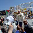 Image de la visite du pape François à Bethléem le 25 mai 2014