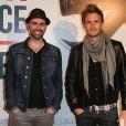 """Julien Arruti et Philippe Lacheau - Avant-première du film """"Amour sur place ou à emporter"""" à Paris le 26 mai 2014."""