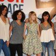 """Amelle Chahbi, Aude Pepin, Marie-Julie Baup, Victoria Monfort Avant-première du film """"Amour sur place ou à emporter"""" à Paris le 26 mai 2014."""
