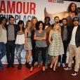 """L'équipe du film - Avant-première du film """"Amour sur place ou à emporter"""" à Paris le 26 mai 2014."""