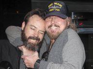Barry Gibb (Bee Gees) : Un papa comblé et très câlin avec son fils Steve...
