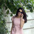 Amal Alamuddin, la fiancée de George Clooney, à Londres, le 20 mai 2014