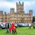 """Le château de Highclere, à Bamton en Angleterre, lieu de tournage de la célèbre serie """"Downton Abbey"""" le 7 décembre 2013"""