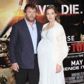 Jacqui Ainsley très enceinte avec son Guy Ritchie barbu : Un beau baby bump !