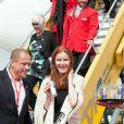 Gery Keszler, Marcia Cross arrivant à l'aéroport de Vienne le 30 mai 2014